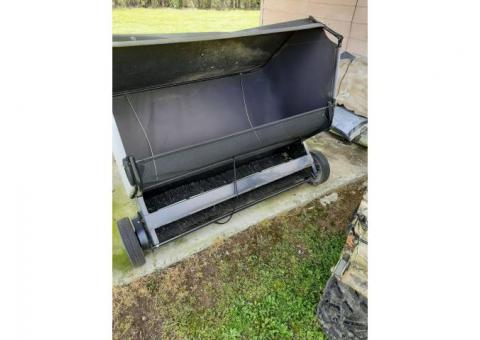 Lawn sweep trailer tites